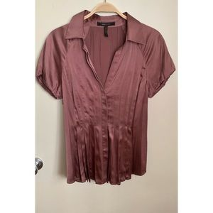 BCBGMAXAZRIA | Silk Like Pleated Blouse